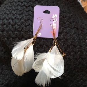 Claire's Feather Earrings